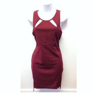 Ladakh | Anthro Fitted Dress w/ Cut-Out Chest